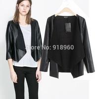 2015 New Arrived Women PUP Jackets /Imitate Leather Jacket Cardigan Fashion Joker Women Coat/CTW