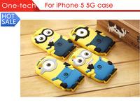 For iPhone 4 4s 5 5s 6 6 plus 5.5 inch Cute Cartoon Soft Silicon Rubber Back Cover Despicable Me Yellow Minion Case FA014