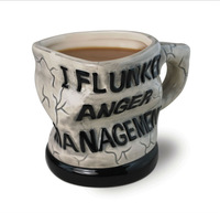 Hot 1pcs Novelty Office Decoration Mug Personality Anger Managment Coffee Cup