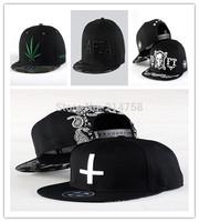 Hip Hop Baseball Flat Bill Hats Caps Snapback Hip-Hop Adjustable Canvas Cap Hat 001