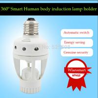 Wlan smart Human body sensor switch induction lamp holder Automatic identification day night light E27 B22 Base free shipping