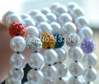 Minites kills NEW TG J Ball Beads Crystal Shamballa Bracelet Fasion Happy New Year Gift 3pcs one lot SM-1