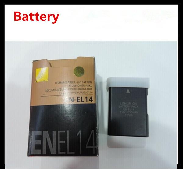 Free shipping digital batteries ENEL14 EN EL14 Camera Battery pack For Nikon D5200 D3100 D3200 D5100 P7000 P7100 MH-24 bateria(China (Mainland))