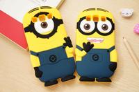 For Samsung Galaxy S3 S4 S5 i9300 i9500 i9600 Cute Cartoon Soft Silicon Rubber Back Cover Despicable Me Yellow Minion Case FA014