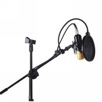 Professional Studio Karaoke Floor Tripod style Microphone Mount Holder Mic Stand Boom Scissor Suspension Arm Mount Shock