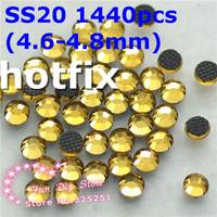 SS20 light colorado topaz rhinestones SS20(4.6--4.8mm) 1440pcs/lot flat back free shipping