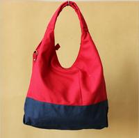 2015 women Mouth canvas shoulder bag diagonal dual women mixed colors bag