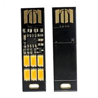 50pcs Mini USB Power 6 LED SoShine 1W warm White USB mini pocket 6-LED lamp light for laptop camera 1pcs