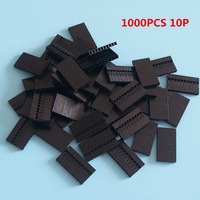 1000pcs 10P Dupont Jumper Wire Cable Housing Female Pin Connector 2.54mm Pitch
