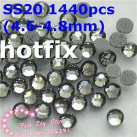 SS20 gray rhinestones SS20(4.6--4.8mm) 1440pcs/lot flat back free shipping