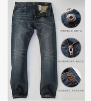 American jeans male straight cylinder loose counter genuine big code nutty to Europe and the United States major suit jeans