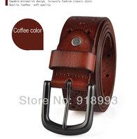 Old brand belt wheel factory quality goods lead layer cowhide hollow out belt men belts wholesale restoring ancient ways