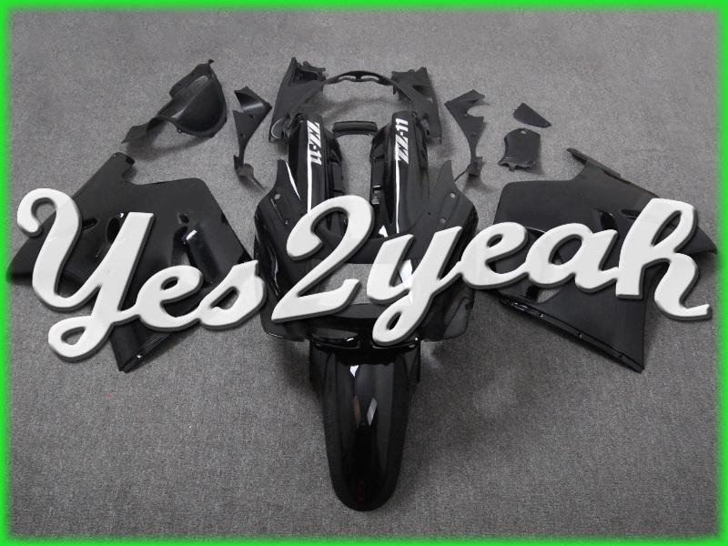 Black fairings for motor fairing kits ABS Motorcycle ABS Support Custom Kawasaki kawasaki zzr1100 93-01 zzr1100 kawasaki zzr(China (Mainland))