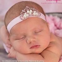 baby princess headband Royal Baby Pearl Crown Tiara Headband Baby Glitter Elastic headband Christmas children accessories