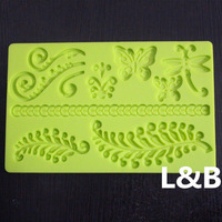 Top Quality Silicon Butterfly Cake Decorating Mould Gum Paste Silicone Mold