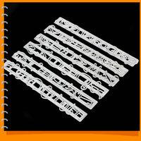 6pcs/set Letters&Numbers Shape Fondant Cake Decorating Stencil Set Embossing Cutter Mould for Cakes / Sugar Paste / DIY Cookie