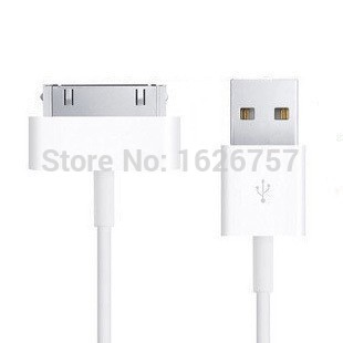 For apple iphone 4 4S ipod touch ipad iPod nano 5 6 PIN data Sync USB Mobile Phone Cable charger Direct Shipping Length: 1M(China (Mainland))