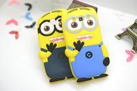 For Samsung Galaxy Win i8552 i8550 Cute Cartoon Soft Silicon Rubber Back Cover Despicable Me Yellow Minion Case FA014