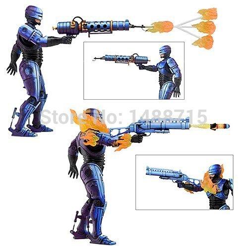 New Hot Sci-Fi Film Game Robocop VS Terminator NECA Series 2 Battle Damaged & Flamethrower 18CM Action Figure Toys Box(China (Mainland))