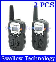 2 PCS 5Kms 0.5W UHF Auto Multi-Channels Wireless 2-Way Handy Radios Walkie Talkie LCD backlit T-388 flashlight