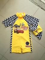 Free Shipping 5pcs/lot Fashion Cars Children Swimwear One-Piece Swimming Suits for Boy Kids Swimwear CS-002