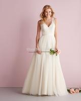latest 2014 deep v-neck sexy mermaid bridal dresses white spaghetti straps wedding dress custom made fast shipping