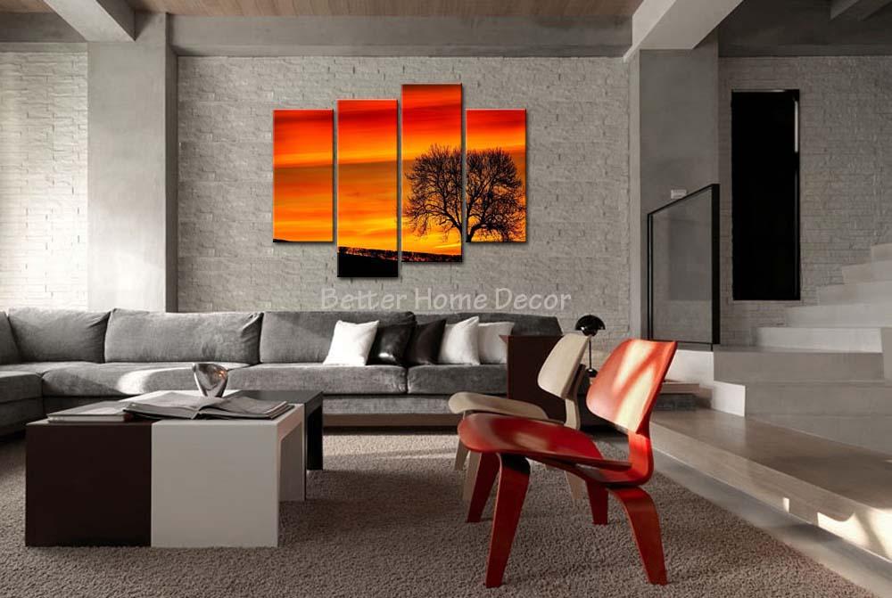 Silhouette Tree Paintings Painting Tree Silhouette
