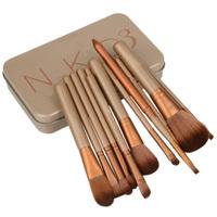 High quality 12 Pcs new nake 3 brush,NK3 Makeup Brush kit Sets for eyeshadow blusher Cosmetic Brushes Tool