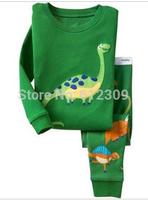 children dinsaour baby clothing set baby underwear pyjamas Long sleeve Boys turtle girls pajamas kids pijamas for 2-7 years
