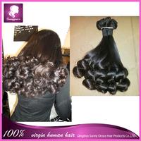 New Arrival Unprocessed Natural Black Virgin Peruvian virgin Hair Sprial Curl Funmi Hair Weave For Africa American