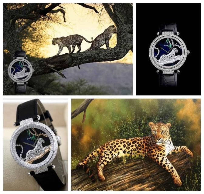 Ms leopard series wrist watch, led like a jungle, import mechanical movement, very proud charming(China (Mainland))