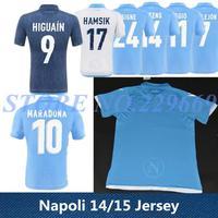 14/15 Napoli 2nd Away Camouflage Soccer Jersey 2015 Napoli Home Blue Away White HIGUAIN CALLEJON HAMSIK Soccer Shirt