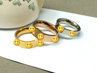 New Sale Hot 18K Real Gold Plated Simply Style Classic Ring for women Top Brand Love series titanium steel ring  #DR003