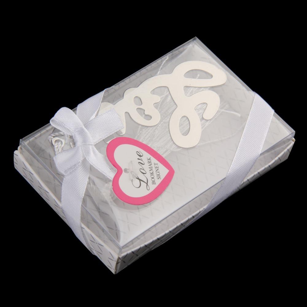 R1B1 LOVE Shaped Bookmark Tassel Wedding Favors Bridal Shower Bridesmaid Gifts(China (Mainland))