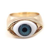 [Min. 10$] 2015 fashion gold eye rings for women size 17mm free shipping R173