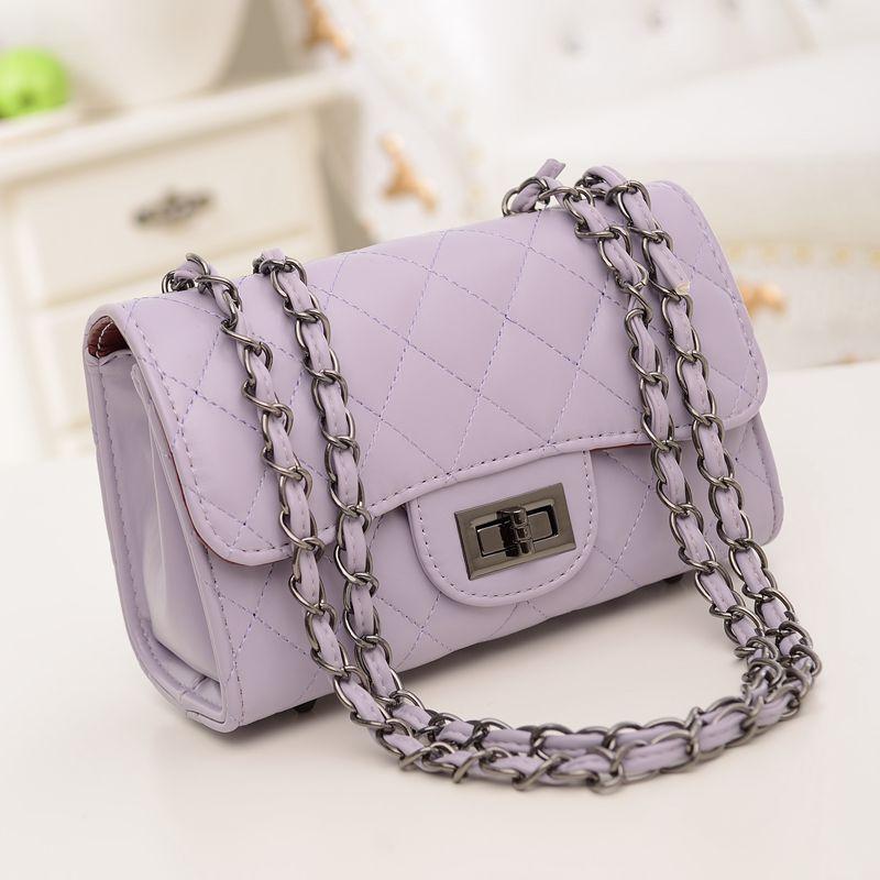 2014 Japan And South Korea Winter Women's PU Lingge Chain Portable Shoulder Bag Messenger Handbag Purse Wholesale(China (Mainland))