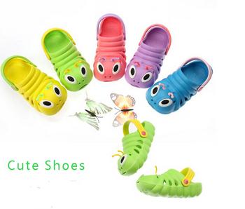 Сабо дети дети гусеница пляж обувь игрушки 3d сабо сад обуви тапочки сандалии сабо конфеты цвета девушки летняя обувь