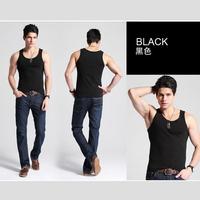 Hot Wholesale Free Shipping Men Singlets Bodybuilding FitnessTank Tops Men's Sport Tank Top Undershirt Slim Basic Vest GYM
