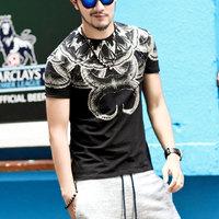 Hipster Hip Hop 3D Print Poster T Shirt Men Vintage Horn Neck Teens T-Shirts Skateboard Muscle Fit Fixgear Quick Dry Camisetas