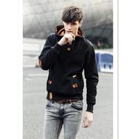 Hot Selling Men Solid Hoodies Sweatshirt moleton Loose Pullover Warn Winter Coats Casual hip hop Sportswear Outwear CX852857