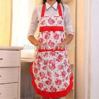 Women Lady Dress Restaurant Home Kitchen with Pocket Cooking Cotton Apron Bib
