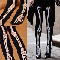 Womens Ladies Sexy Skull Skeleton Tattoo Pantyhose Stockings Tights
