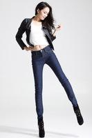 2015 autumn winter hot sale thicken fleece women snow warm denim jeans woman clothes cheap clothes china slim all-match jeans