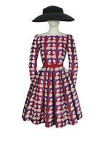 2015 Exclusive Original Design Audrey Hepburn Style Retro Embroidered Jacquard Dress Vintage Floral Print Rockabilly Cocktail
