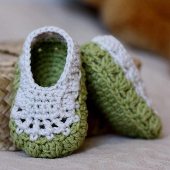KeeBaby Crochet Baby Booties Newborn Sandals Handmade Shoes Green(China (Mainland))