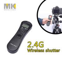 DBK RST7202 2.4G wireless timer remote control shutter release receiver for canon 7D 6D 5D2 5D3 5D 50D 40D 30D 20D 10D 1D 1DX