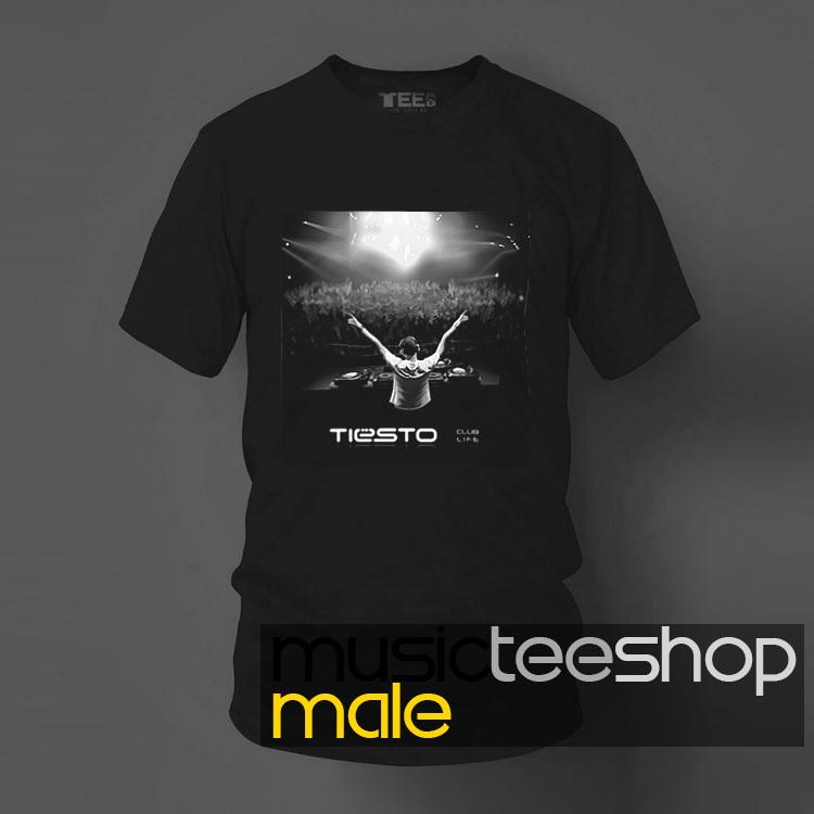 2015 new spring cotton Men T shirt tee Tiesto black and white or DJ site photos printed casual camisetas Tee(China (Mainland))