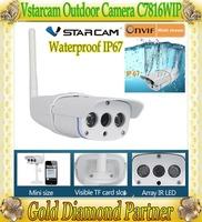 Vstarcam New mini Outdoor waterproof cctv IP camera C7816WIP Onvif HD 720P Wifi P2P IR Cut Night Vision TF Card Slot  IP67