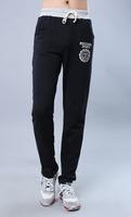 Hot 2015 Fashion Print Personality Trousers Sports Drawstring Loose Size Cotton Pants Hip Hop Long Plus Size Running Sweatpants