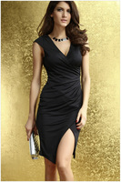 2015 Fashion Party Women Dress Sleeveless V-Neck Slim Dresses Sexy Women Cloth HM109